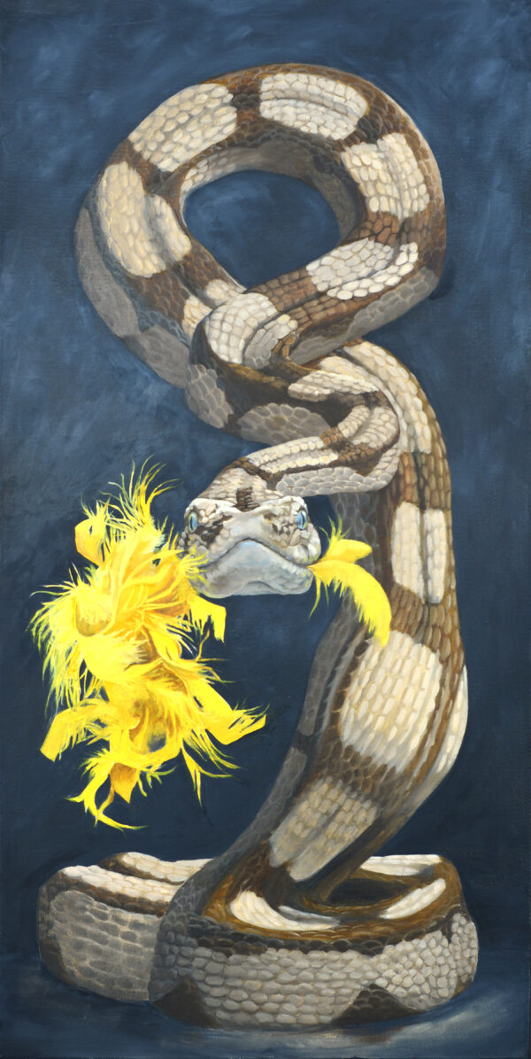 Hangry Snake - Oil Painting by Leah Kiser