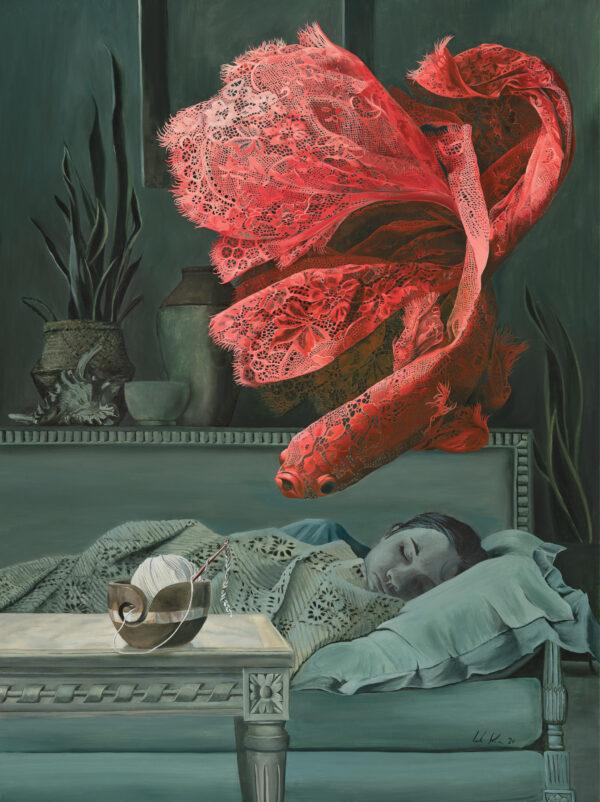 Hooker's Dream - Oil Painting by Leah Kiser