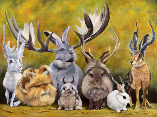 Jackalope's of the World - Oil Painting by Leah Kiser