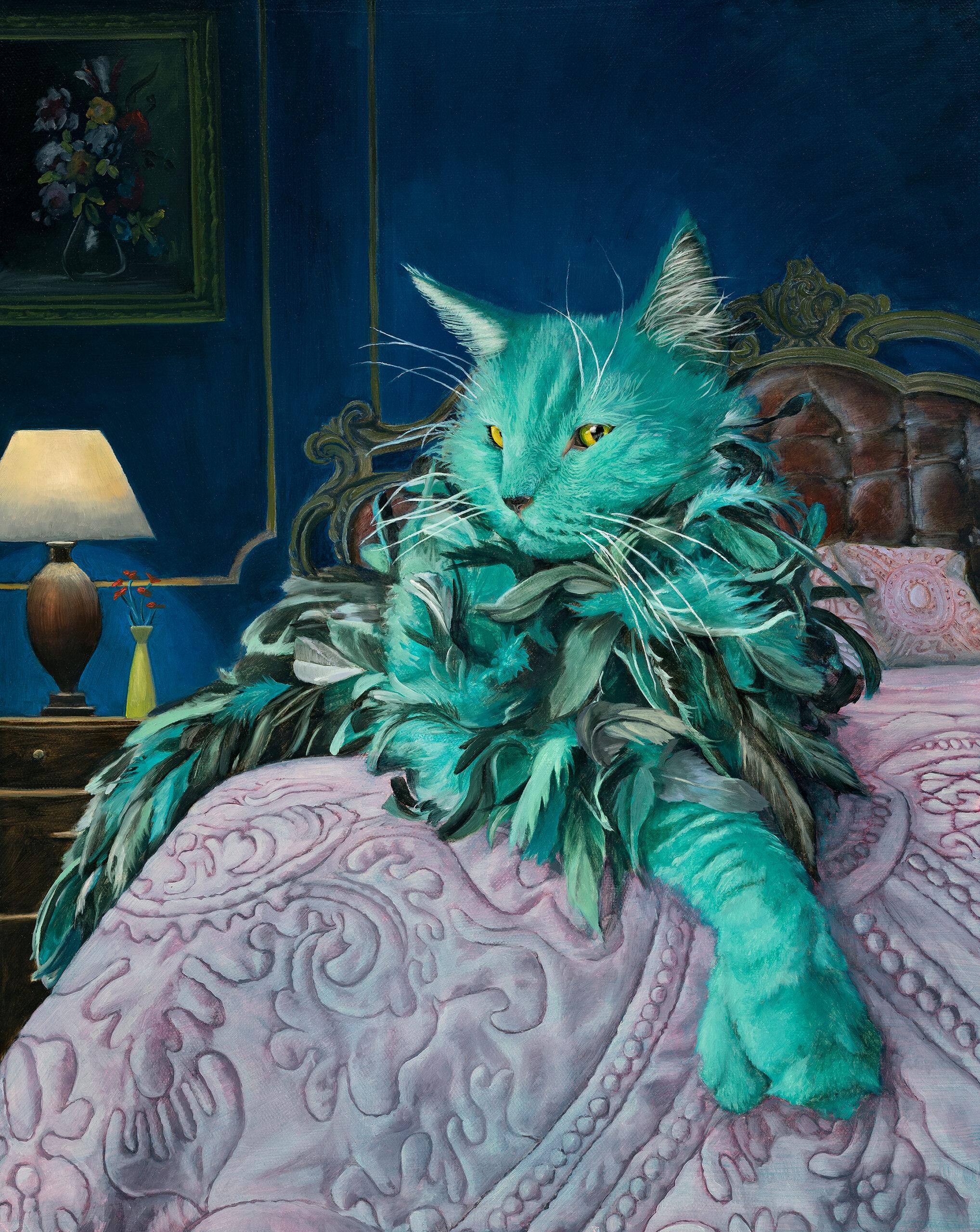 Purrrdy - Oil Painting by Leah Kiser